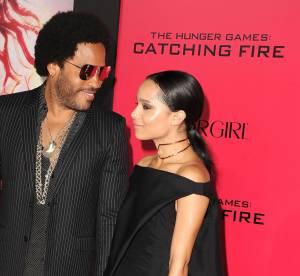 Lenny Kravitz et sa fille Zoë : piercings et tatoo en duo pour Hunger Games