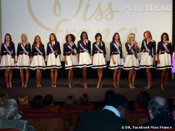 Les candidates au concours de Miss France 2011.