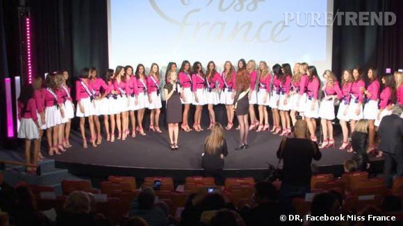 Les candidates au titre de Miss France 2014.