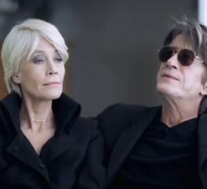 Jacques Dutronc et Françoise Hardy dans une publicite pour Lampe Berger.