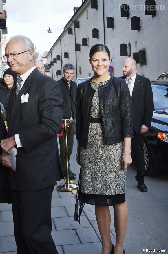 Princesse Victoria de Suède lors d'un séminaire sur l'écologie à Stockholm.