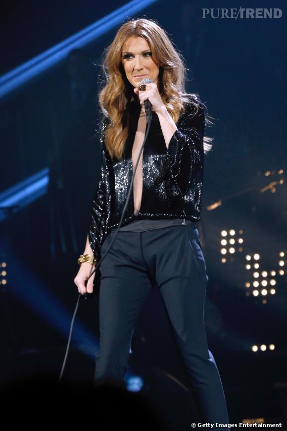 Céline Dion a livré un show intimiste.