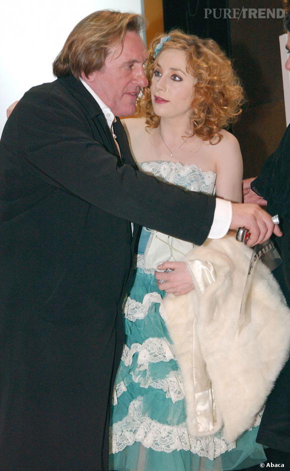 Julie Depardieu et son père Gérard, en 2005.