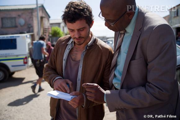 "Orlando Bloom et Forest Whitaker sur le tournage de ""Zulu""."