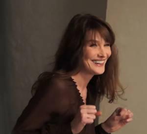 Carla Bruni sous l'objectif de Kate Barry pour le magazine ELLE.