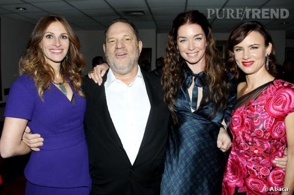 Julia Roberts, Hervey Weinstein, Julianne Nicholson et Juliette Lewis sur le tapis rouge pour leur nouveau film.
