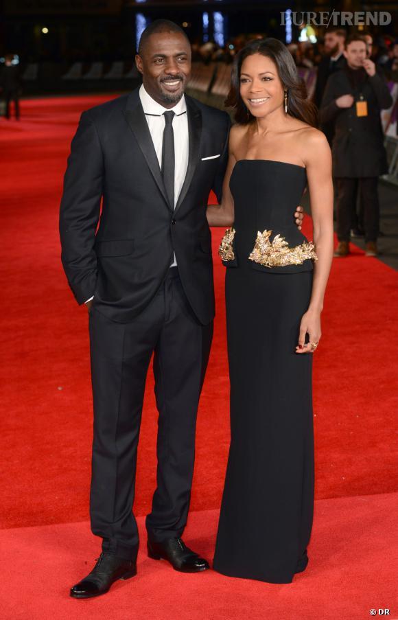 """Idris Elba et Naomie Harris pour la promo de """"Mandela : Un long chemin vers la liberté""""."""