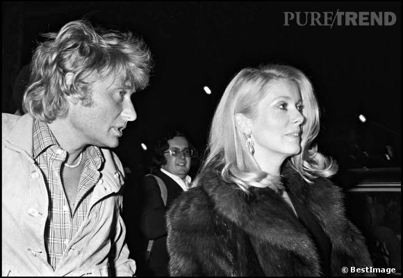 Johnny Hallyday et Catherine Deneuve en 1980.