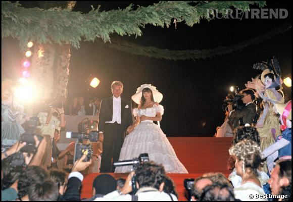 Johnny Hallyday et Adeline Blondieau, le jour de leur mariage.