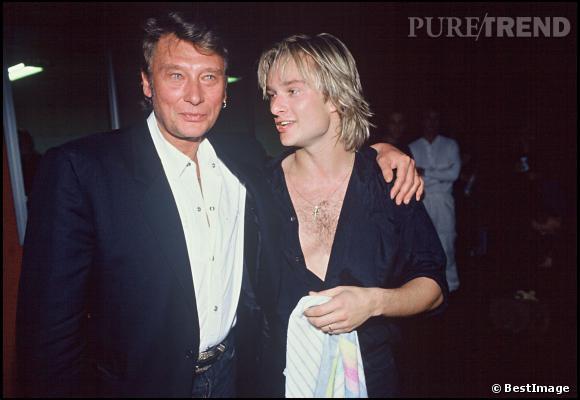 Johnny Hallyday et David.