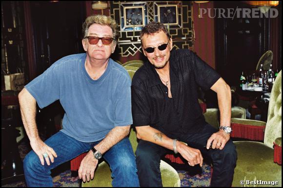 Johnny Hallyday et son acolyte Eddy Mitchell.