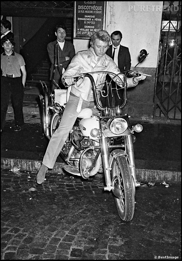 Johnny Hallyday, un grand fan de moto.