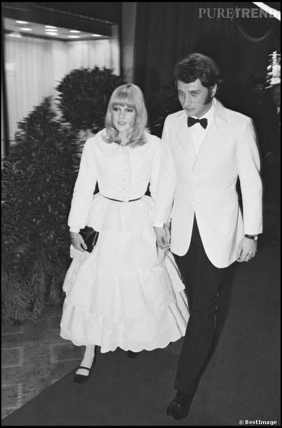 Johnny Hallyday et Sylvie Vartan en 1966.