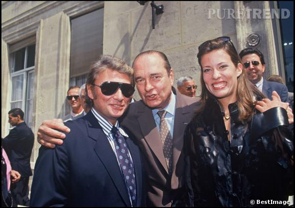 Johnny Hallyday et Jacques Chirac.