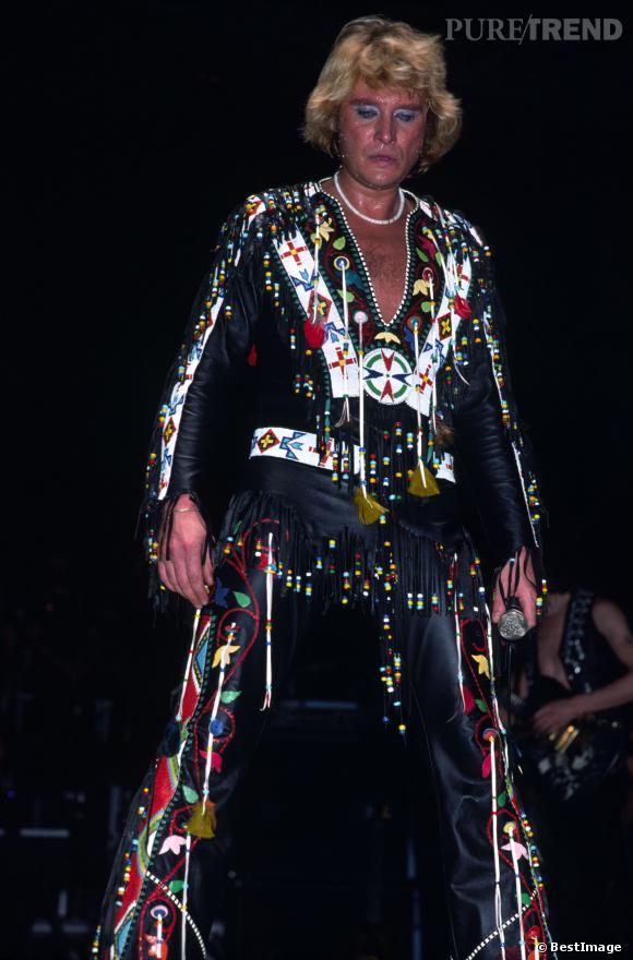 Johnny Hallyday en concert au Pavillon de Paris 1979.