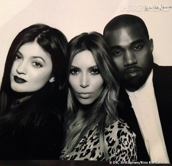 Kim Kardashian, Kanye West et la petite soeur de Kim, Kylie Jenner.