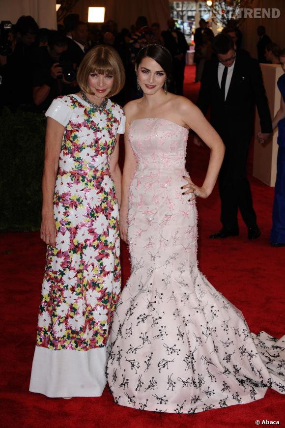 """Anna Wintour et Bee Shaffer au MET Ball 2013, """"Punk : Chaos to Couture""""."""