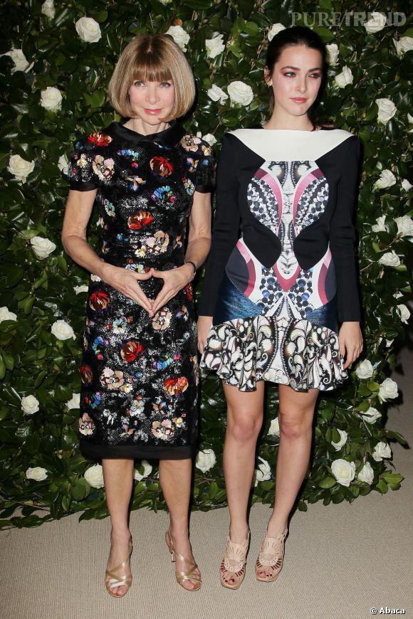 Anna Wintour et Bee Shaffer, toujours très mode.
