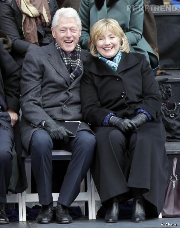 Hillary et Bill Clinton à l'investiture de Bill de Blasio à New-York, le 1er janvier dernier.