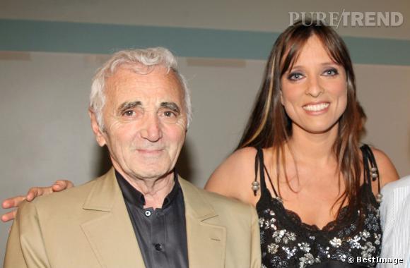 Charles Aznavour et Lynda Lemay en 2007.