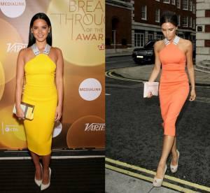 Olivia Munn VS Victoria Beckham : la robe vitaminée Victoria Beckham