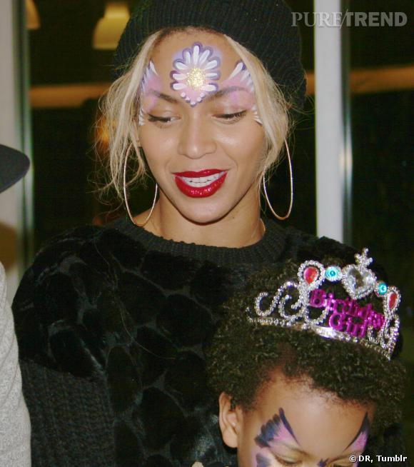 Blue Ivy et Beyoncé, maquillées pour fêter les 2 ans de la petite brunette.