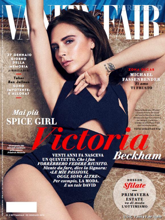 Victoria Beckham pose pour le Vanity Fair Italie et Espagne du mois de février.