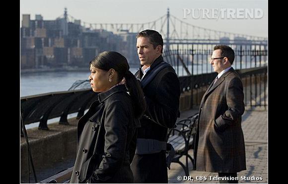 """Carter, Reese et Finch, le trio star de """"Person of Interest""""."""