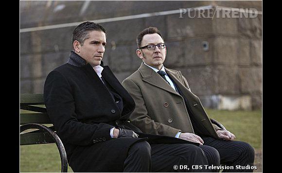 """John Reese et Finch, les associés de """"Person of Interes"""" en quête de rédemption."""