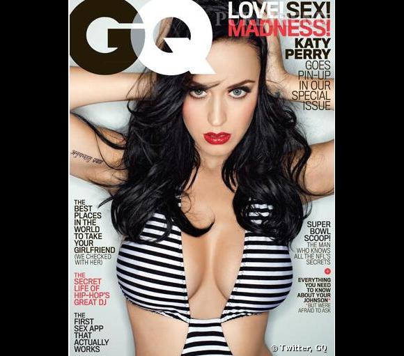 Katy Perry en Une du numéro de février prochain du magazine GQ.
