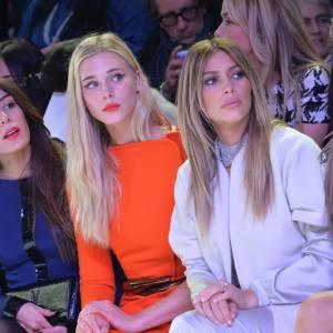 Sofia Essaïdi en front row du défilé Stéphane Rolland Haute Couture Printemps-Eté 2014 à Paris aux côtés de Gaia Wess, Kim Kardashian et Bianca Suarez.