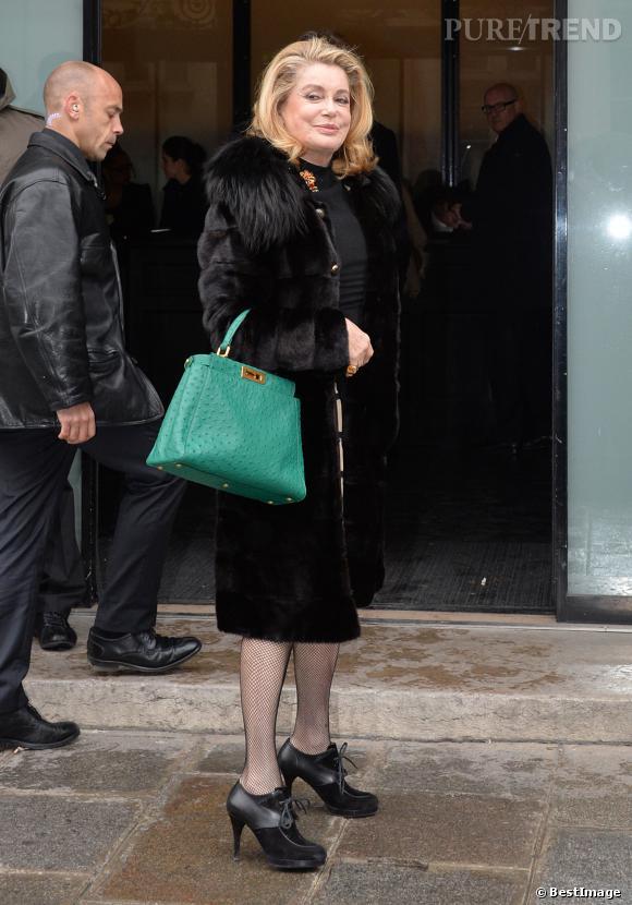 Catherine Deneuve au défile Jean-Paul Gaultier mercredi.