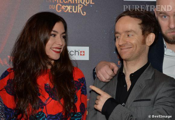 """Olivia Ruiz et Mathias Malzieu lors de l'avant-première du film """"Jack et la mécanique du coeur"""", le 26 janvier 2014."""