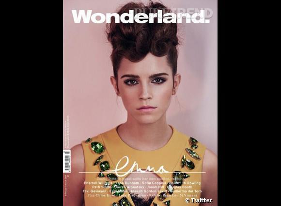 Emma Watson a dévoilé sur Twitter la couverture de Wonderland, le magazine dont elle fera la couverture en février !