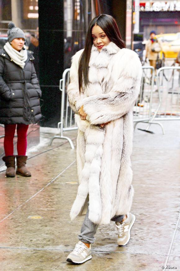 Manteaux de fourrure de Rihanna