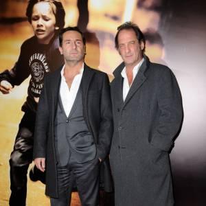 """Gilles Lellouche et Vincent Lindon à l'avant-première de """"Mea Culpa""""."""