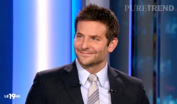 Bradley Cooper au JT du 19:45 de M6 d'hier soir, lundi 3 février 2014.