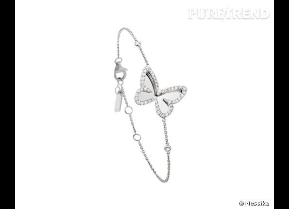 Boucle d'oreille papillon messika