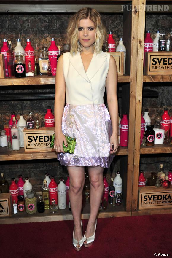 Kate Mara porte une robe Dior Printemps-Été 2013.