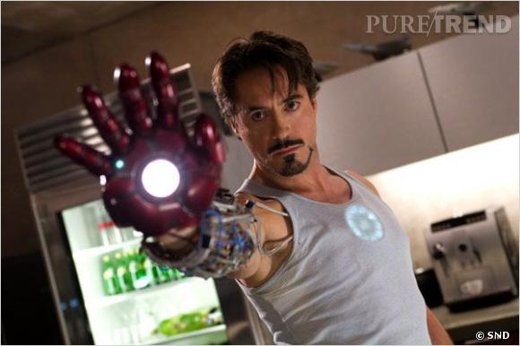 "Robert Downey Jr en Tony Stark dans ""Iron Man""."