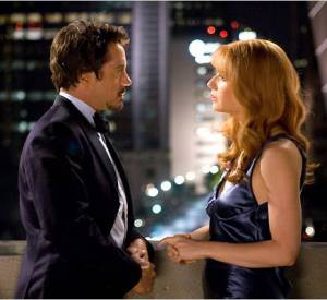 "Robert Downey Jr et Gwyneth Paltrow dans ""Iron Man""."