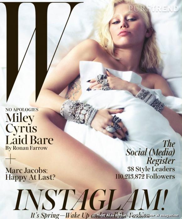 Miley Cyrus pose nue en couv de W magazine.