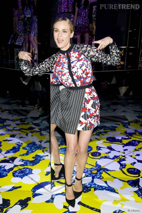Diane Kruger est une fille cool à la soirée de lancement de la capsule Peter Pilotto X Target.