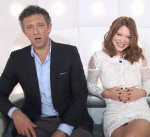 Vincent Cassel et Léa Seydoux, un duo déchaîné et sans tabous pour la Boîte à Questions de Canal +.