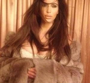Kim Kardashian, lingerie nude et fourrure : un souvenir sexy de 2012