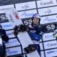 Pierre Vaultier, champion olympique de snowboardcross. L'autre Français de la compétition, Pierre-Henri de Le Rue, est lui arrivé 4e.