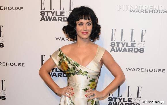 """Katy Perry et sa coupe """"Susan Boyle"""" aux Elle Style Awards 2014. Un carnage."""