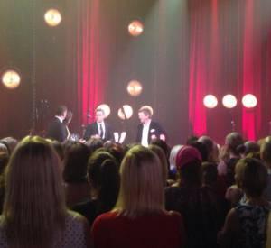 """Robbie Williams était l'invité du show australien pour promouvoir la sortie de son album """"Swing Both Ways""""."""
