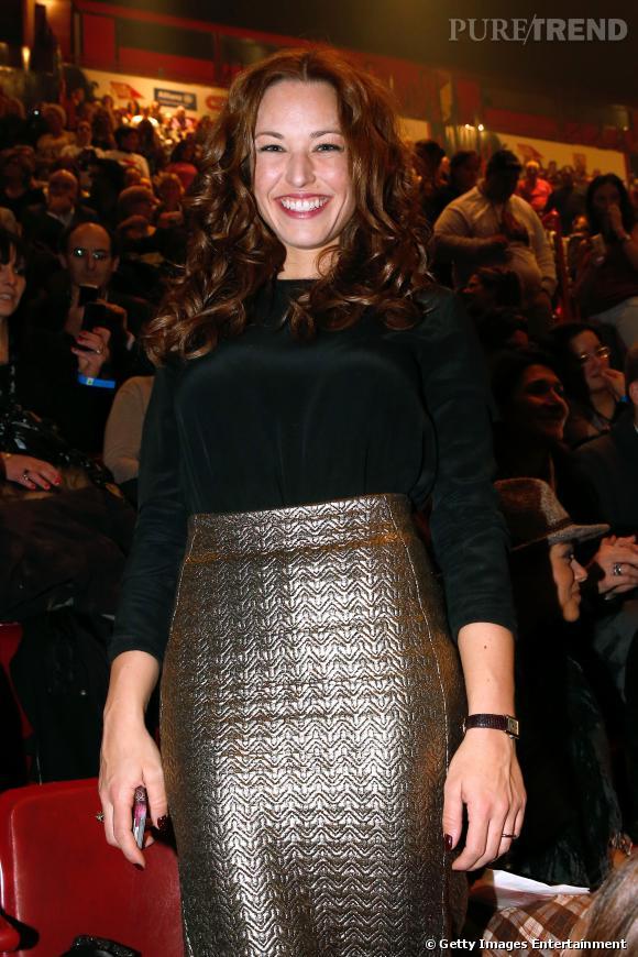 Natasha St-Pier, présentatrice de charme qui annoncera dimanche 2 mars 2014 le gagnant qui ira à l'Eurovision 2014 pour représenter la France.