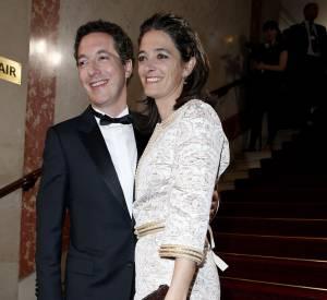 Guillaume Gallienne et sa femme sur le tapis rouge des César 2014.